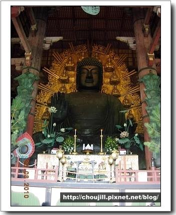 傳說中有名的奈良大佛本尊