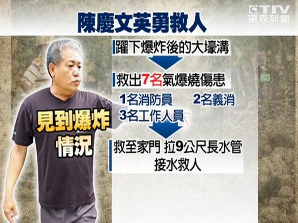 在台灣的故事731高雄氣爆災後故事高雄氣爆當時見義勇為的故事高雄氣爆後居民勇救13人