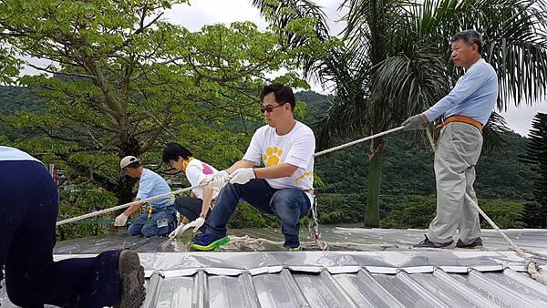 企業贊助偏鄉-屋頂修繕
