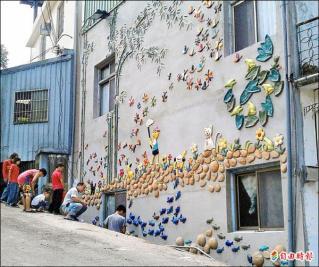 竹北租雅房--合力砌陶牆 大南社區 創作在地特色