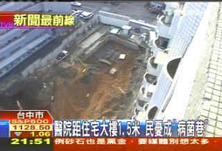 醫院距住宅大樓1.5米 民憂成「病菌巷」