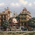 Arnau Alemany_Sphere Between two buildings_ 94x67cm_2011