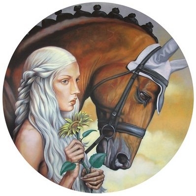 Fran Recacha_THE LIGHT OF LADY GODIVA_直徑86cm_2012