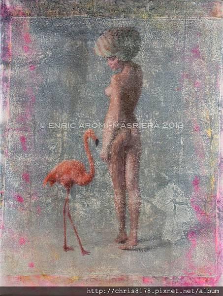 10610_Enric Aromi_ART2015_5_Flamingos_mixed media_90x116cm.jpg