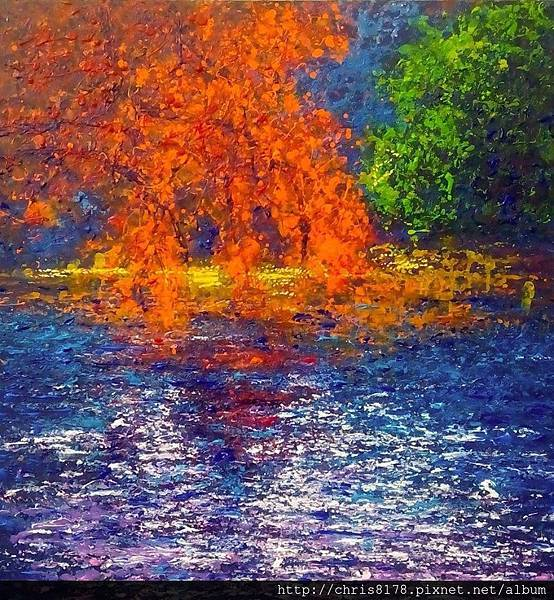 10876_Andres Rueda_ART2016_1_Autumn in the pond_複合媒材_80x80cm_2015.jpg