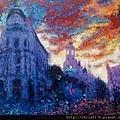 10876_Andres Rueda_ART2016_5_Mirando al Cielo Gran Via_複合媒材_93x122cm_2014.jpg