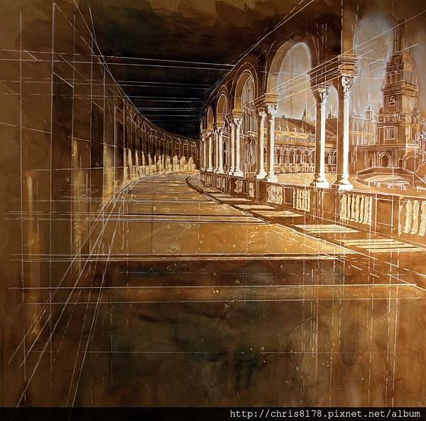 10877_Javier Bajo_ART2016_6_Columnas II_複合媒材_110x100cm_2015.jpg