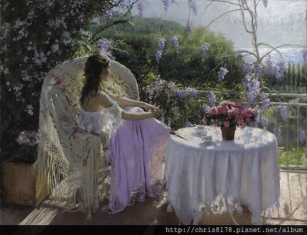 10880_Vicente Romero Redondo_ART2016_4_Spring morning_粉蠟筆(pastel on Ingres paper over an impasto base)_116x89cm_2015.jpg