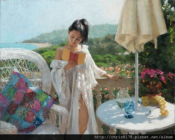 10880_Vicente Romero Redondo_ART2016_5_Summer reading_粉蠟筆(pastel on Ingres paper over an impasto base)_81x65cm_2016.jpg