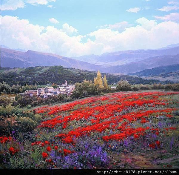 10626_Miguel Peidro_ART2017_7_Pueblo de Pirineos_80x80cm_Oil on canvas.jpg