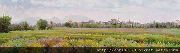 11041_Jordi Isern_ART2017_1_Albons llueix la seva primavera_70x20cm_Oil on canvas.jpg