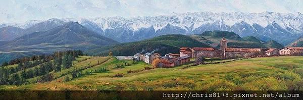 11041_Jordi Isern_ART2017_5_La Serra del Cadí ens dona la benvinguda_120x40cm_Oil on canvas.jpg