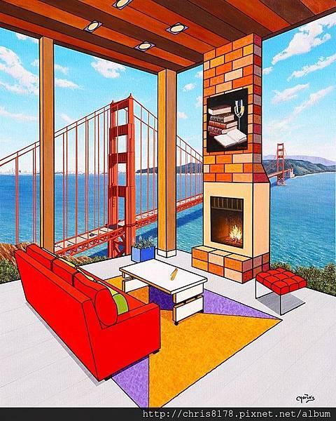 10092_Mario García Miró_ART2017_2_Lectura en San Francisco_100x81cm_Oil on canvas.jpg