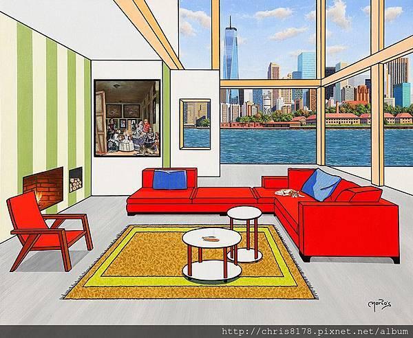 10092_Mario García Miró_ART2017_6_New York y Las Meninas_100x81cm_Oil on canvas.jpg