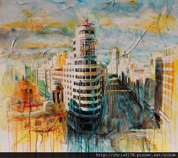 10877_Javier Bajo_ART2017_2_Blue Shade_複合媒材Mixed technique on panel_100x100cm_sm_2016.jpg
