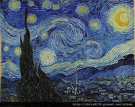 (1853~1890)梵谷(荷蘭)_星夜_Vincent Van Gogh_The Starry Night_1889.jpg