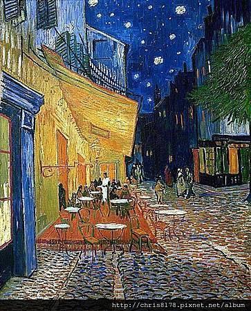 (1853~1890)梵谷(荷蘭)_夜晚露天咖啡座_Vincent Van Gogh_Cafe Terrace at Night_1888.jpg