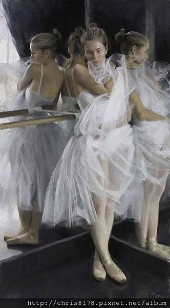 10880_Vicente Romero Redondo_ART2017_1_Ballerina_粉彩畫 Pastel on Ingres paper over an impasto base_56x100cm_2016_sm.jpg