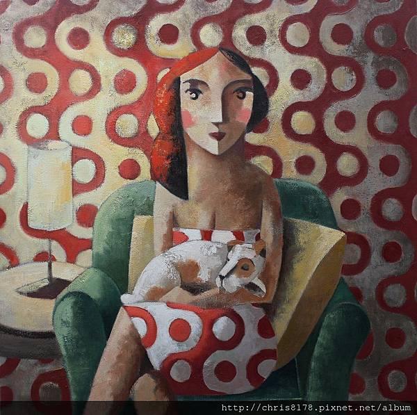 11457_Didier Lourenço_ 20181145710_小狗 Puppy_油畫 oil on canvas_100x100cm_sm_2017.JPG