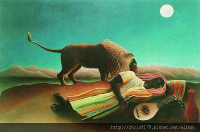 IMG_熟睡的吉普賽人(油畫)亨利·盧梭.jpg