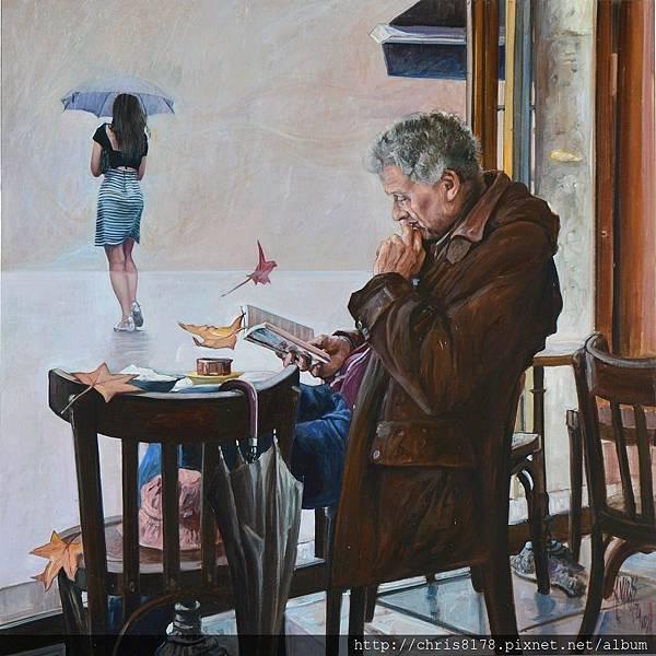 11454_Antonio Varas de la Rosa_20181145404_閱讀時光_El sueño del  lector_油畫 oil on panel_62x62cm_sm_2017.JPG