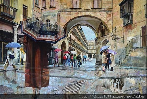 11454_Antonio Varas de la Rosa_20181145403_走在一起_El corrillo_油畫 oil on panel_122x88cm_sm_2017.JPG