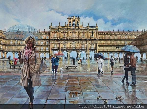 11454_Antonio Varas de la Rosa_20181145406_薩拉曼卡的市政廣場_El teatro de la Plaza_油畫 oil on panel_110x81cm_sm_2017.JPG