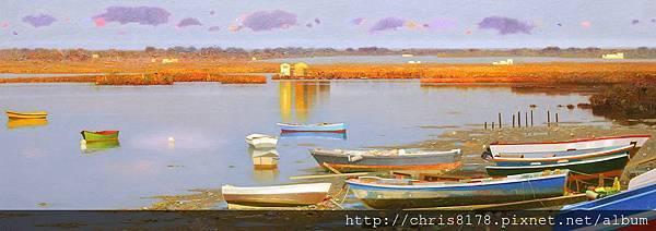 11471_Pedro Roldan_20181147102_寧靜的克里斯蒂娜島 Bajamar Isla Cristina_油畫 oil on panel_120x45cm_sm_2015.jpg