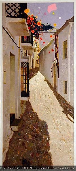 11471_Pedro Roldan_20181147105_布維翁的灰石牆 Cal y piedra, Bubión, Granada_油畫 oil on panel_35x80cm_sm_2017.jpg