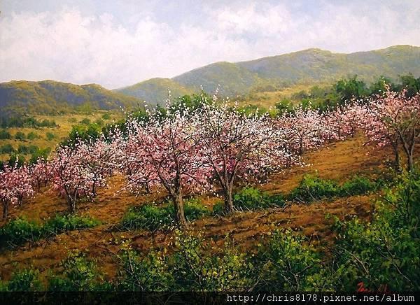 11468_Joan Coloma_20181146802_盛開的杏樹 Almendros en flor_油畫 oil on canvas_73x54cm_sm_2017.jpg