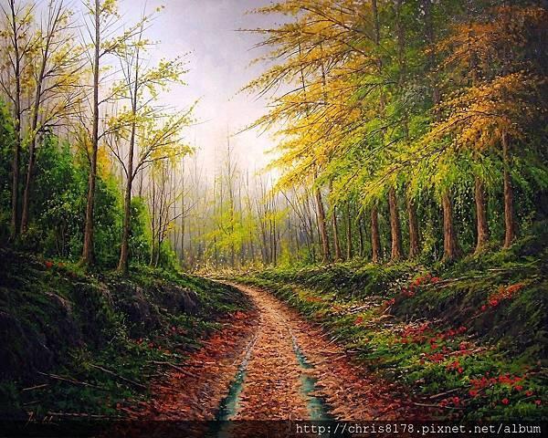 11468_Joan Coloma_20181146804_卡波爾尼加的森林 Bosque en el Valle de Cabuerniga_油畫 oil on canvas_92x73cm_sm_2017.jpg