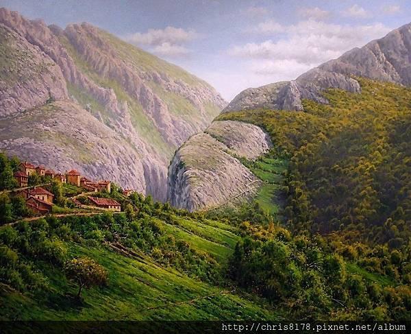 11468_Joan Coloma_20181146806_弗雷斯內多的山城 Fresnedo_油畫 oil on canvas_81x65cm_sm_2017.jpg