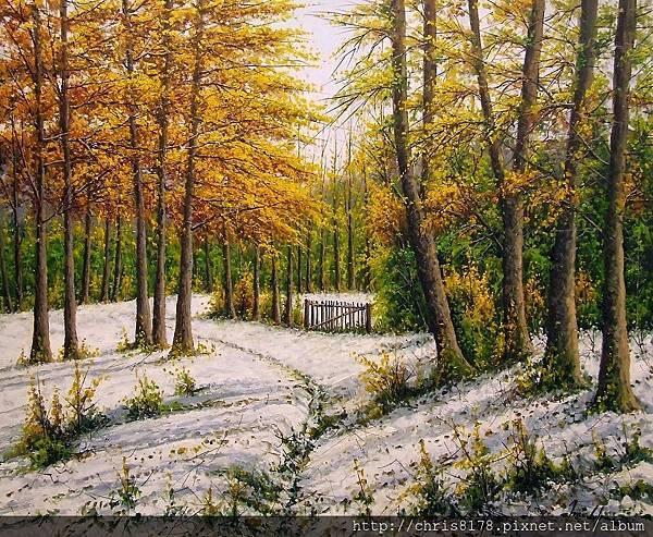 11468_Joan Coloma_20181146809_芙安特德里巴納之雪 Nieve en Fuente de Liebana_油畫 oil on canvas_73x60cm_sm_2017.jpg
