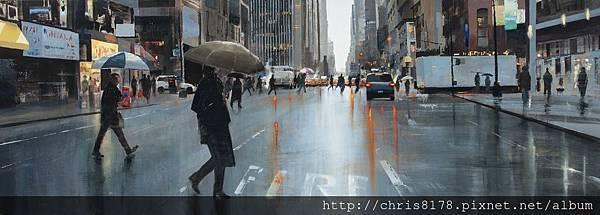 11456_Cristobal Perez Garcia_20181145601_穿越紐約第七大道 Cruzando la séptima Avenida_油畫 Oil on canvas_195x70cm_sm_2018.jpg