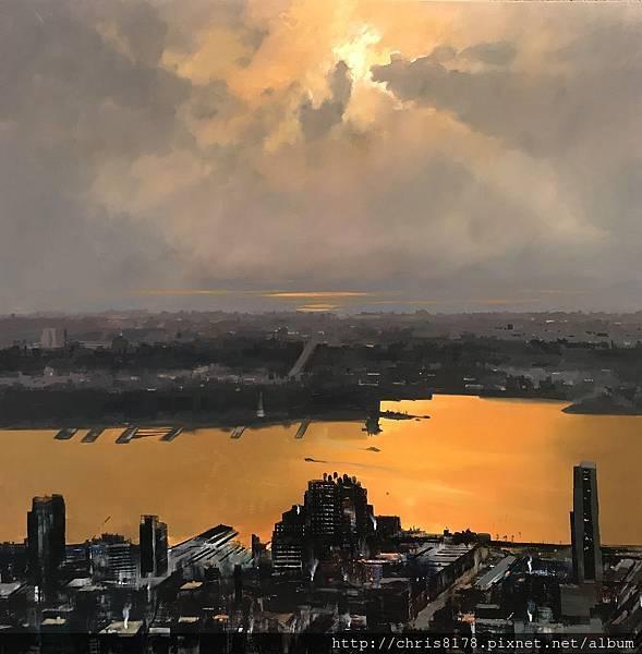 11456_Cristobal Perez Garcia_20181145607_紐約哈德遜河 II_The Hudson II_油畫 Oil on canvas_116 x 116 cm_sm_2018.jpeg