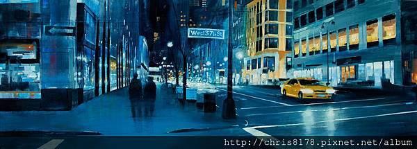 11456_Cristobal Perez Garcia_20181145606_入夜的藍 Noche en azules_油畫 Oil on panel_195x70cm_sm_2018.jpg