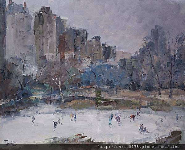 11467_Josep Cruañas_20181146702_中央公園的雪場I Central Park N. Y. _油畫 oil on canvas_100x81cm_sm_2018.jpg