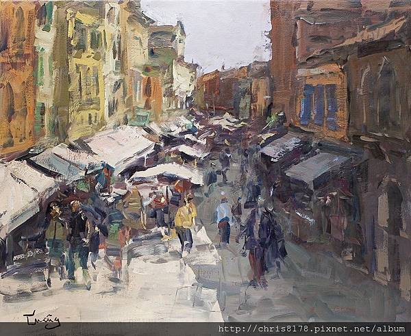 11467_Josep Cruañas_20181146704_威尼斯市集 Mercado en Venecia_油畫 oil on canvas_73x60cm_sm_2017.jpg