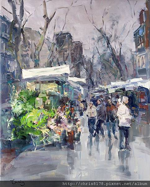 11467_Josep Cruañas_20181146703_蘭布拉大道I Las Ramblas_油畫 oil on canvas_73x92cm_sm_2017.jpg