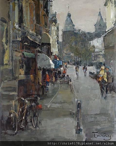 11467_Josep Cruañas_20181146709_通往阿姆斯特丹國家美術館 Rijksmuseum, Amsterdam_油畫 oil on canvas_73x92cm_sm_2017.jpg