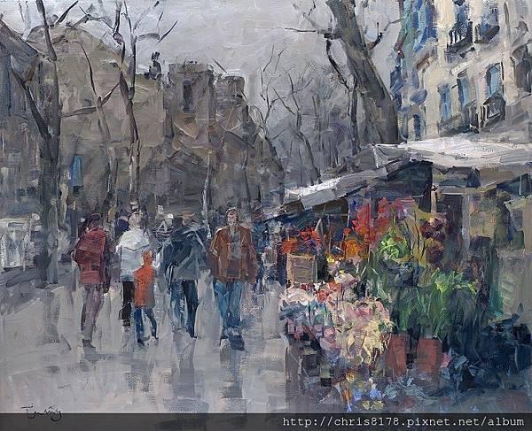 11467_Josep Cruañas_20181146707_蘭布拉大道II Ramblas de barcelona_油畫 oil on canvas_100x81cm_sm_2016.jpg