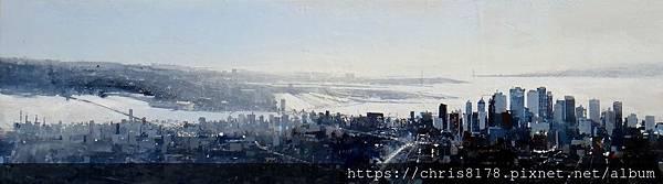 2019-11586-07_安荷拉·亞森席歐 Angel Asensio_曼哈頓 Manhattan_油畫 oil on canvas_50x150cm_40號_sm_2018.JPG