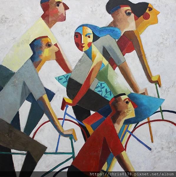 2019-11457-05_狄迪耶·魯倫索 Didier Lourenço_我的道路_My way_油畫 oil on canvas_100x100cm_50正方_sm_2018.JPG