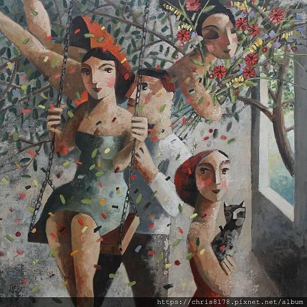 2019-11457-04_狄迪耶·魯倫索 Didier Lourenço_繆斯女神 Muses_油畫 oil on canvas_100x100cm_50正方_sm_2015.JPG