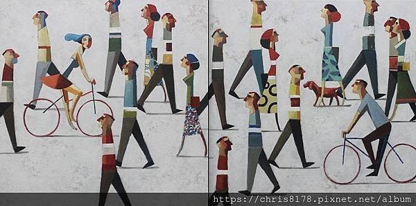 2019-11457-10_狄迪耶·魯倫索 Didier Lourenço_你和我(雙拼畫) Tu y yo (Dyptich)_油畫 oil on canvas_ 200x100cm_100號_sm_2018.jpg