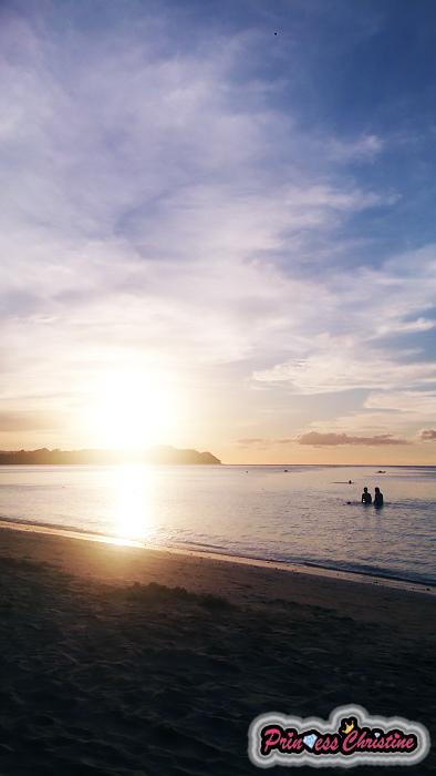 夕陽沙灘1