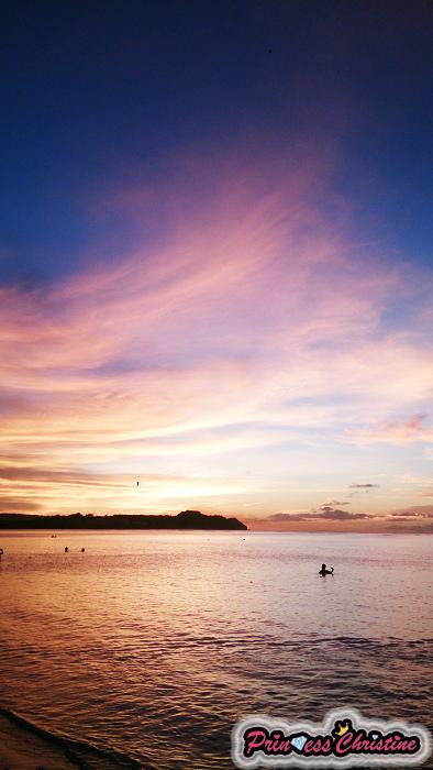 夕陽沙灘2