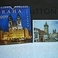 布拉格的桌曆和明信片