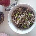 彩椒牛肉黑豆芽紅莧菜
