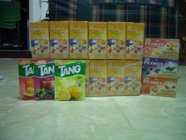 花茶包和果汁粉